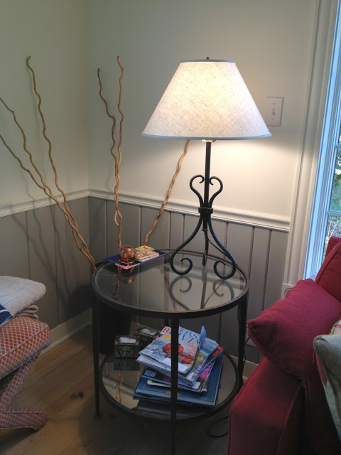 The ugly old lamp that came with the house -- The Impatient Gardener