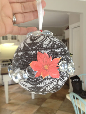 Sweaterball ugly ornament -- The Impatient Gardener