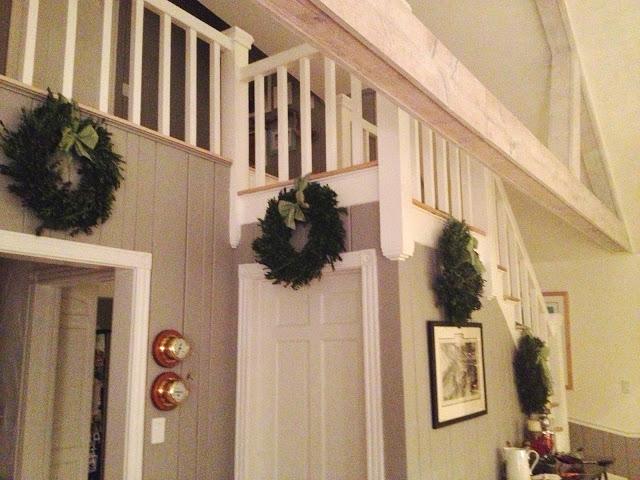 boxwood stair wreaths -- The Impatient Gardener