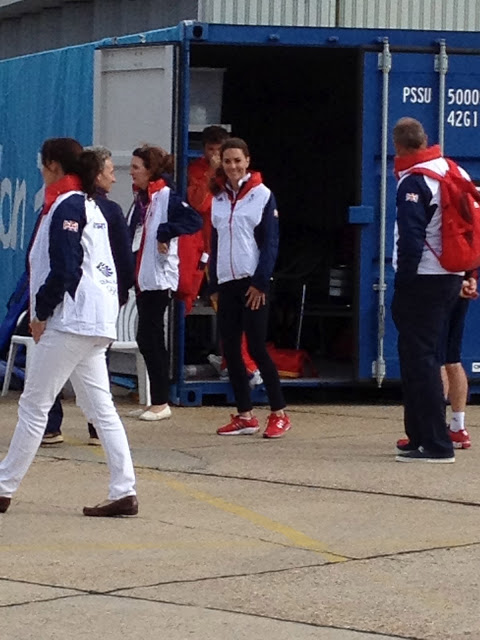Kate checking out the Olympic sailing venue -- The Impatient Gardener