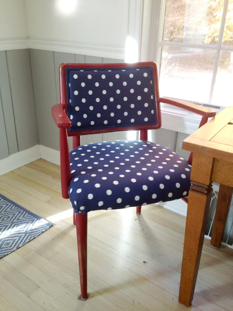 The Impatient Gardener -- How to reupholster a chair