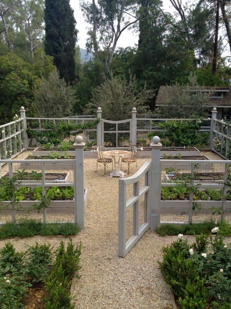 Beautiful fenced-in vegetable garden