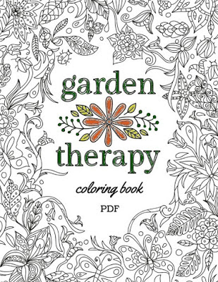 Garden Therapy Coloring Book Pdf For Download A5 1920x0