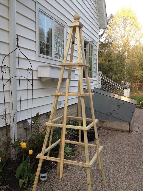 homemade obelisk