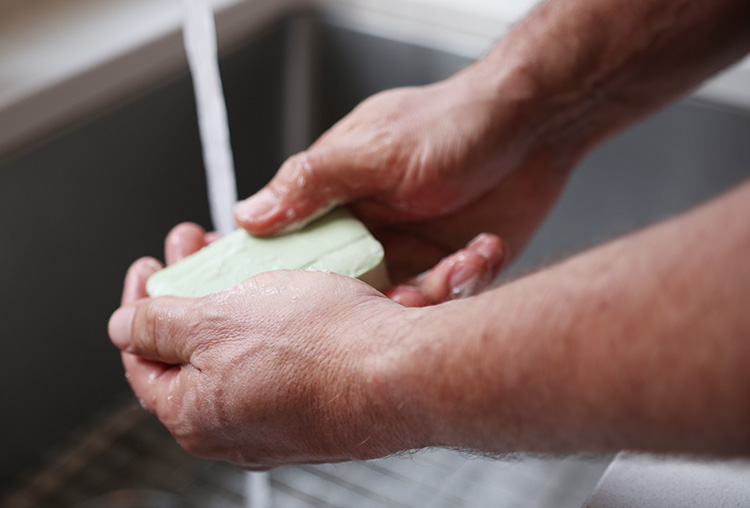wash up with lava soap