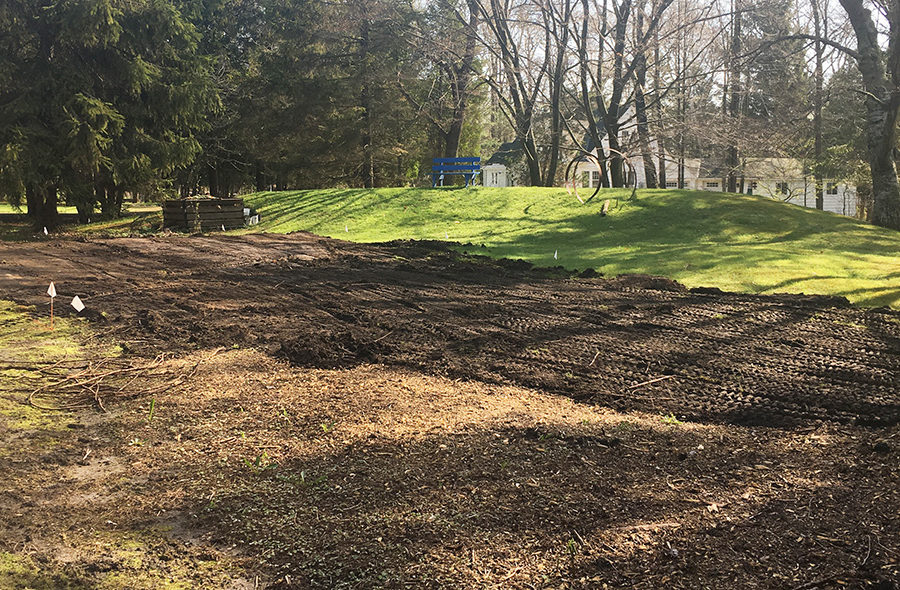 Leveling for a new garden