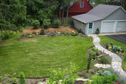 circle grass planting