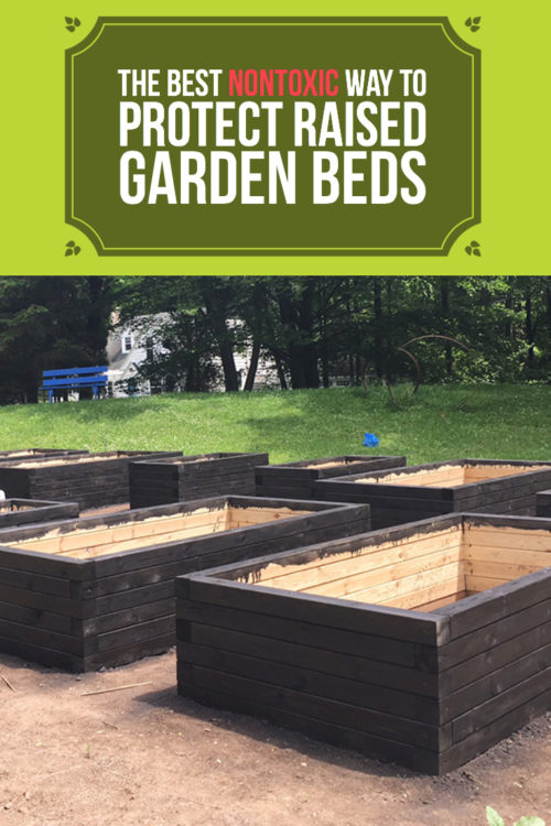 Raised bed garden construction part 3: Staining and sealing
