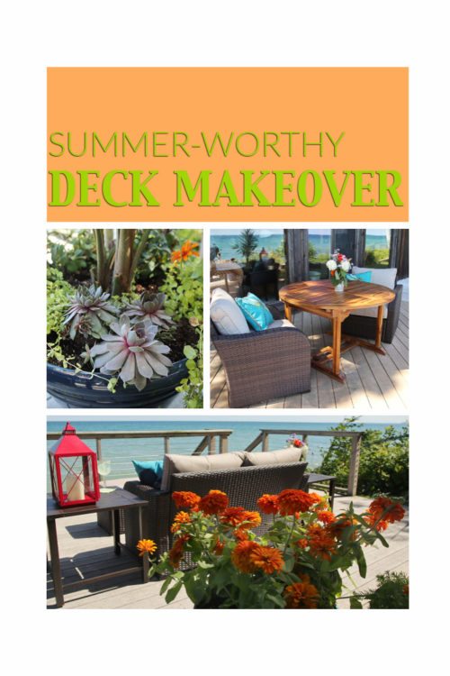 Soak up summer with a deck makeover complete with cushy, durable furniture and fresh container plantings
