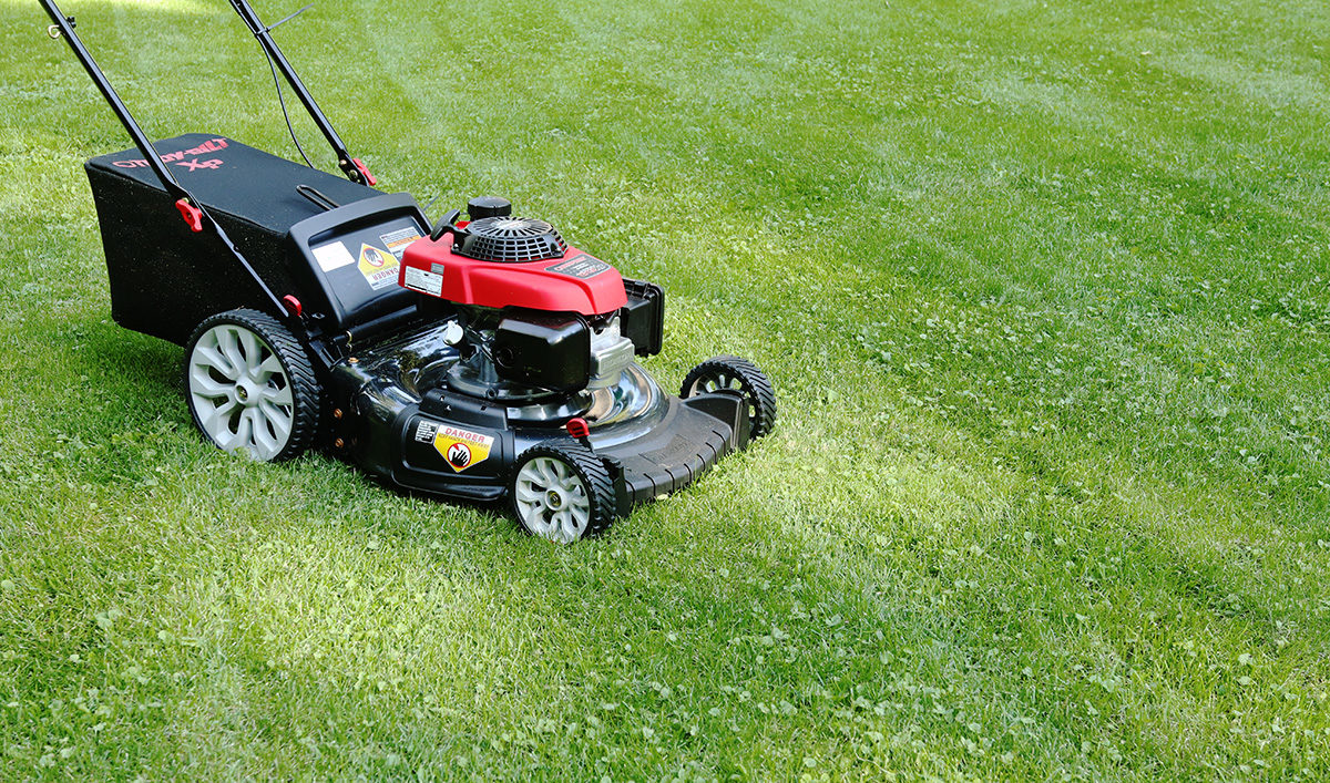 How a lawn mower fits into a fall gardening plan.