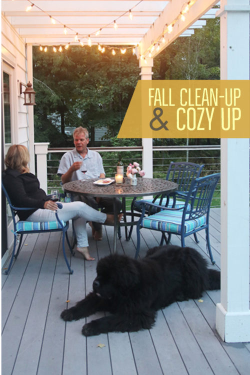 #AD #Lowespartner Cozy up an outdoor seating area with fall  with strings of café lights. Shop them here: https://low.es/2REBCEe
