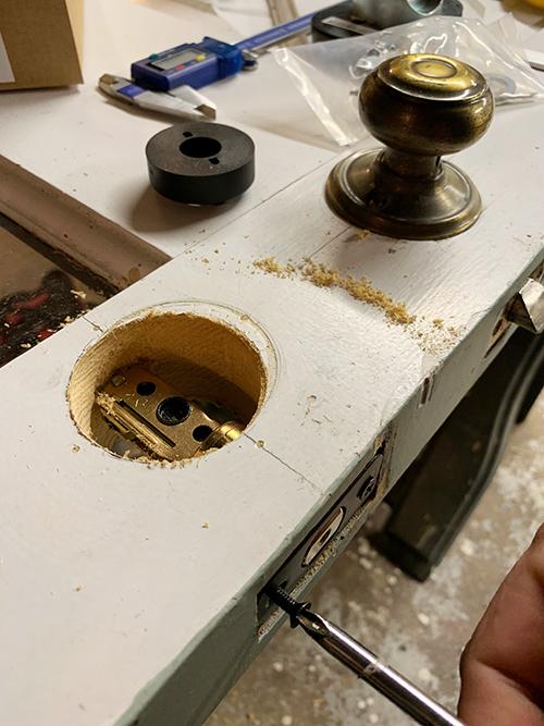 Installing a new lock