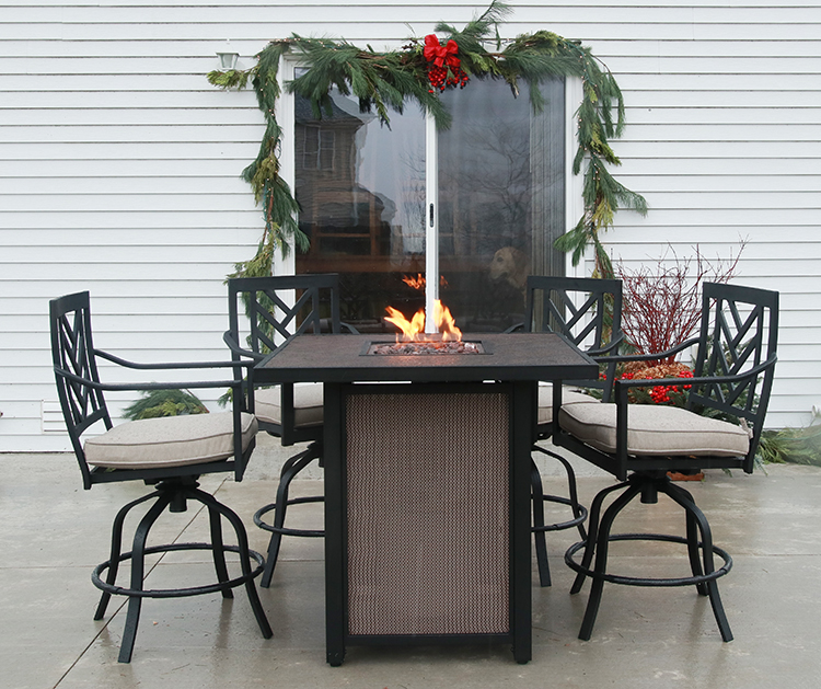 fire table patio makeover