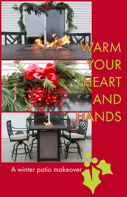 Warm your their hands and their hearts with a patio table makeover.