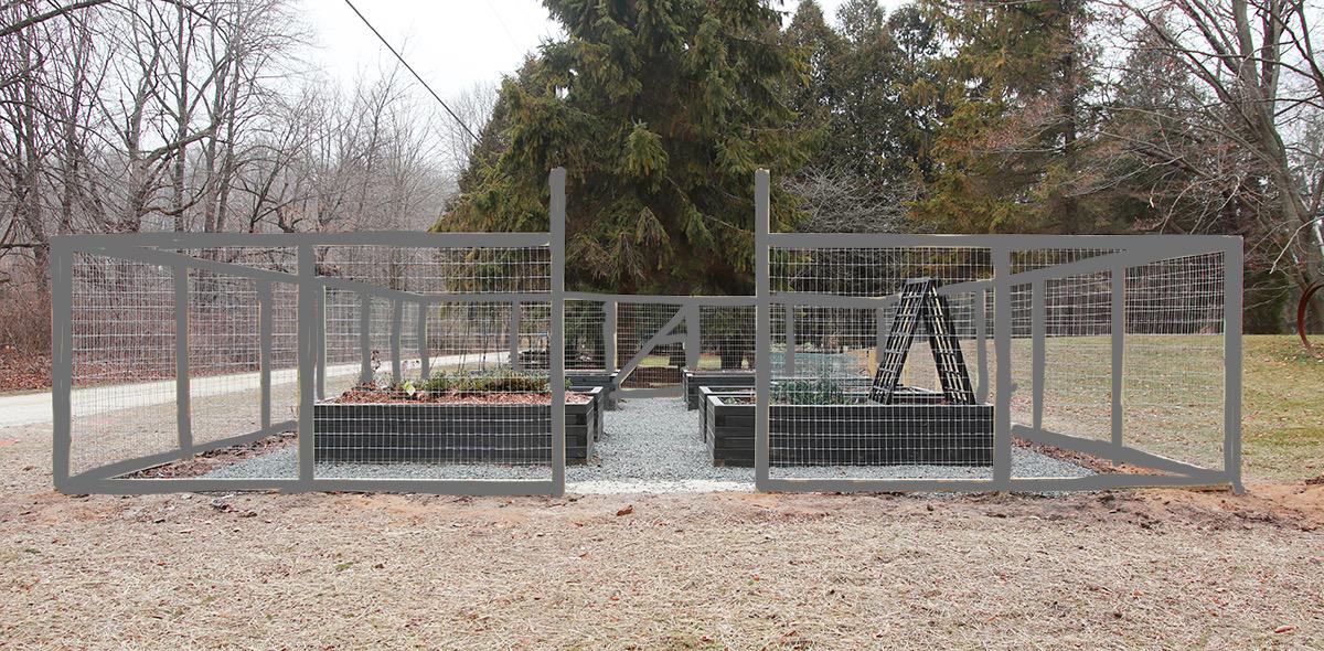 gray fence mockup