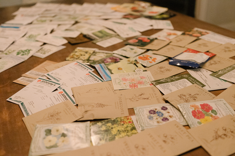 So many seed packets that a plan is called for