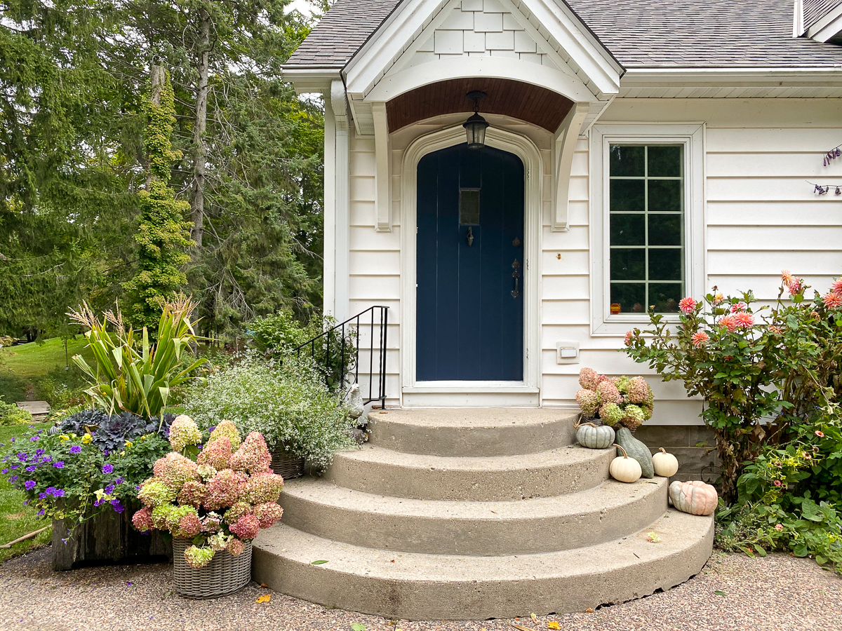 front porch fall makeover