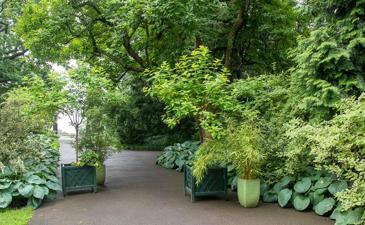 pots to block a walkway